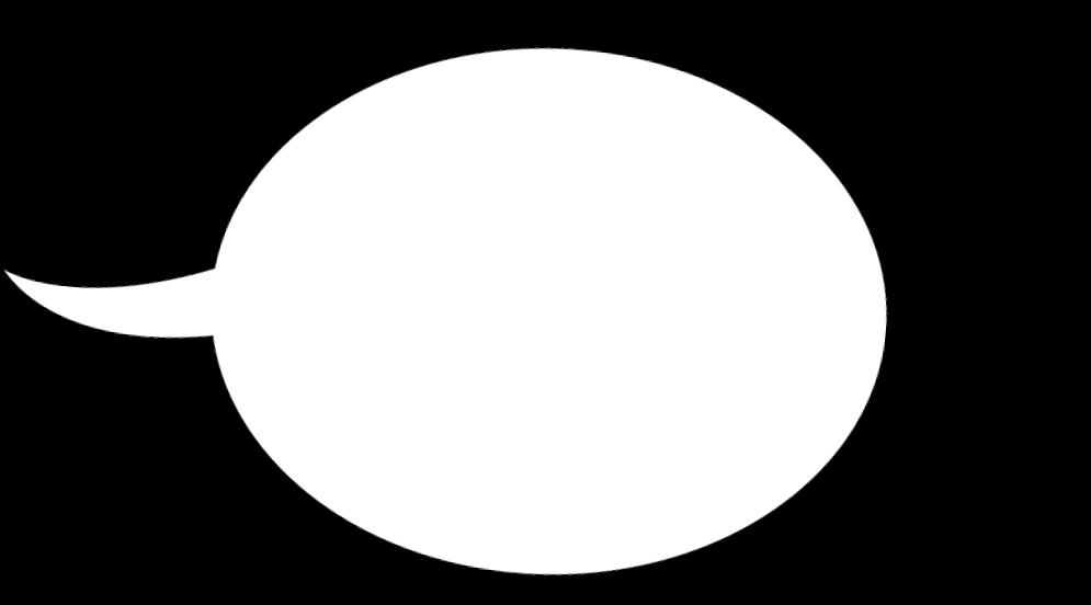 weiße Sprechblase